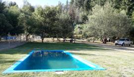 Parcela 2,98 has en Huinanco con piscina.
